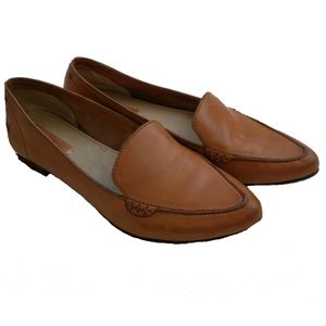 FRYE Leather Pointy Toe Light Brown Flats, sz 6.5